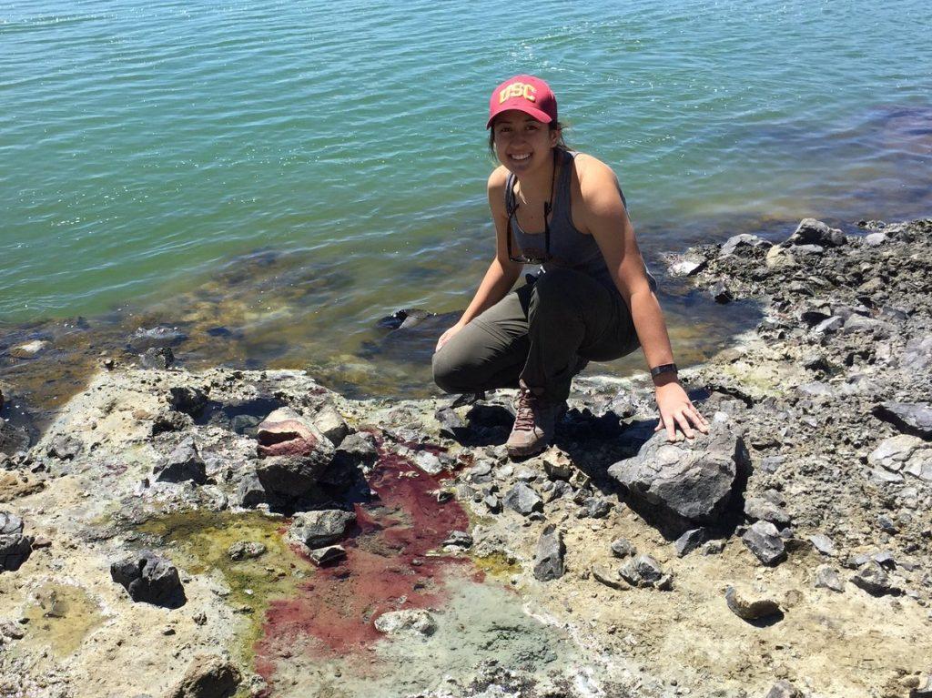 5 GB18 Red Biofilm at Mono Lake